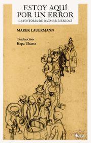 Cubierto del libro 'Estoy aquí por un error', fuente: Centro Checo de Madrid