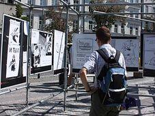 L'exposition de Franz Goess sur la place Venceslas, photo: Štěpánka Budková