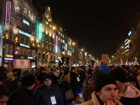 La manifestation contre Zdeněk Ondráček à Prague, photo: Martina Schneibergová