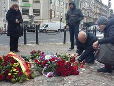 Акция памяти на месте самосожжения Яна Палаха, Фото: Ольга Васинкевич, Чешское радио - Радио Прага