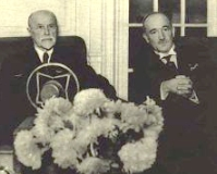 Tomas Garrigue Masaryk and Edvard Benes