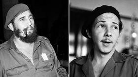 Fidel Castro y Raúl Castro (1961), foto: ČTK