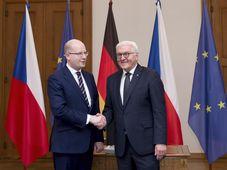 Frank-Walter Steinmeier  y Bohuslav Sobotka, foto: ČTK