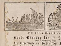 L'invitation pour la présentation publique du premier bateau à vapeur et l'automobile à vapeur, photo: NTM Praha