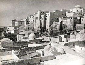 Jerusalén en los aňos 40 del siglo pasado. Foto: Daniel.baranek / public domain