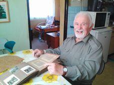 Dalibor Knejfl, veterano checoslovaco de la Segunda Guerra Mundial, foto: Daniel Konewka