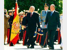 President Vaclav Klaus and the Spanish king Juan Carlos, photo: CTK