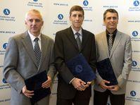 Jan Flusser, Petr Baldrian, Michal Fárník, photo: CTK