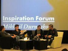 Михаил Дурненков (справа) на йиглавском фестивале, Фото: Виргиния Варгольская, Чешское радио - Радио Прага