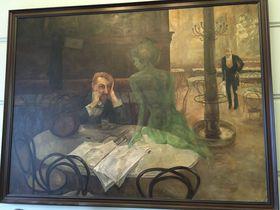 """Gemälde """"Absinthtrinker"""" von Viktor Oliva (Foto: Ian Willoughby)"""