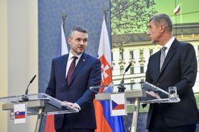 Peter Pellegrini, Andrej Babiš, photo: CTK