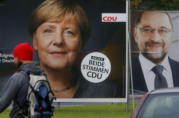 Angela Merkel und Martin Schulz (Foto: ČTK)