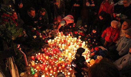 Commemoration of November 17, 1989 in Prague, photo: T. Adamec