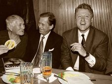 Bohumil Hrabal, Václav Havel, Bill Clinton, photo: Jiří Jírů