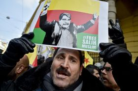 Saleh Muslim's supporters, Prague, February 27, 2018, photo: CTK