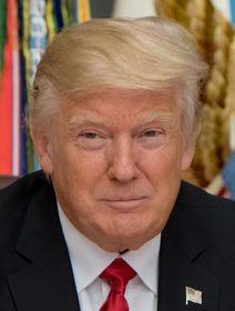 Donald Trump, photo : Jette Carr, U. S. Air Force, Public Domain