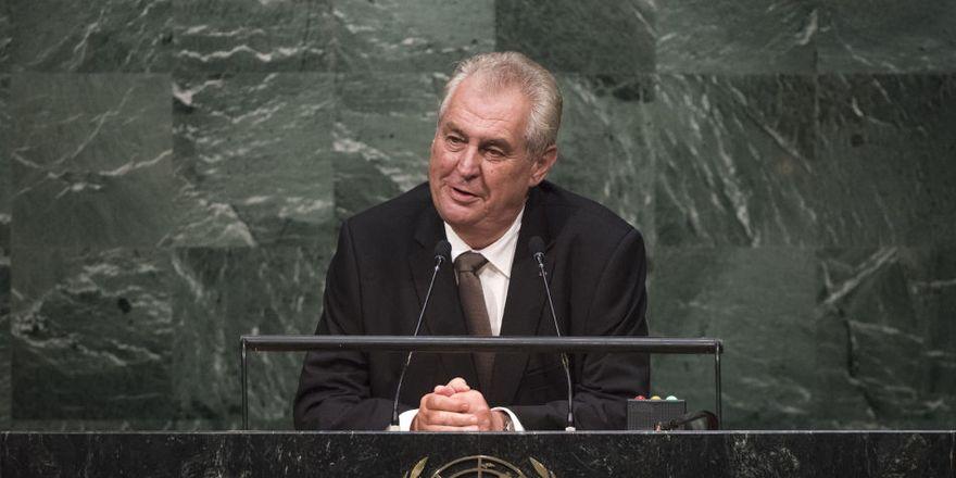 Miloš Zeman à l'ONU, photo: United Nations Photo, licence Creative Commons Atribution-NonCommecial-NoDerivs 2.0 Generic