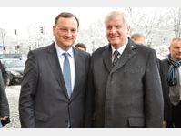 Petr Nečas et Horst Seehofer, photo: CTK
