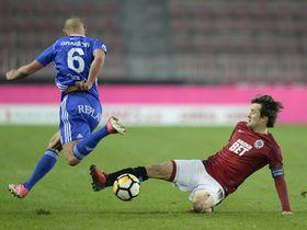 Denis Granečný (Baník Ostrava), Tomáš Rosický (Sparta Prague), photo: CTK