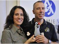 Indira and Andrew Feustel, photo: CTK