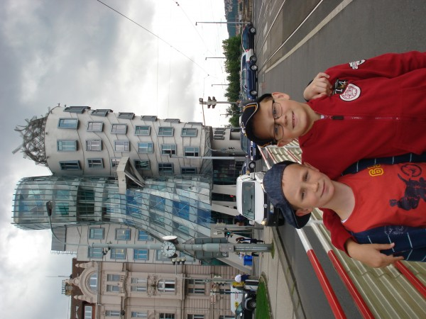 Jaroslaw Jedrzejczak – Two buildings - Ginger and  Fred and two brothers Jakub and Julian in Prague.