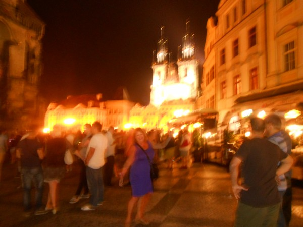 Nan Moretz – Enjoying the beautiful fairytale night life in Prague!