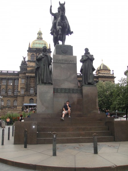 David Smith – With the Duke of Bohemia himself, in his own square.  People, statues, architecture - this is Prague.