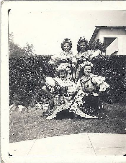 Toni Valenta-Pencille – Babicka and her cousins getting ready for Sokol festivities in the 1940's Burbank Ca.  I am 1/2 Czech and very proud of it but don't look it because the other half is Brazilian and Mexican.  I love dumplings, kuba, and zeli.  My dream is to see Babi's town, Trtice!