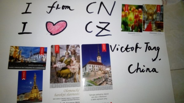 Tang XiYao – My postcards mailed to me from Czech to China. I come from China and I love Czech