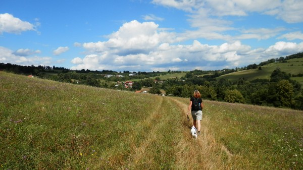 Kevin Read – Hiking through a field near the village of Velká Lhota,  Zlín Region, Czech Republic
