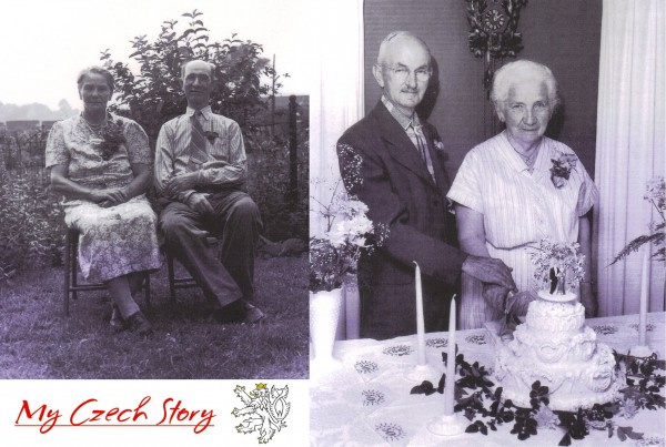 Tim Semerad – Pictured left are my grandmother's parents, Vaclav Frantisek Krasa from Prague and Krystina Uzlik Krasa from Vejvanov. Pictured right are my grandfather's parents, Frantisek Semerad and Louise Elias Semeradova both from Prague. My Czech ancestors immigrated to the United States c. 1905 and raised their families here. We are still very proud of our Czech heritage even after four generations!