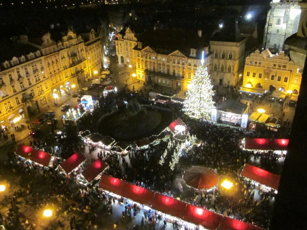 Steve Jack – Prague Christmas Markets were amazing enough from ground level, but viewed from the top of the Town Hall tower, they were incredible!