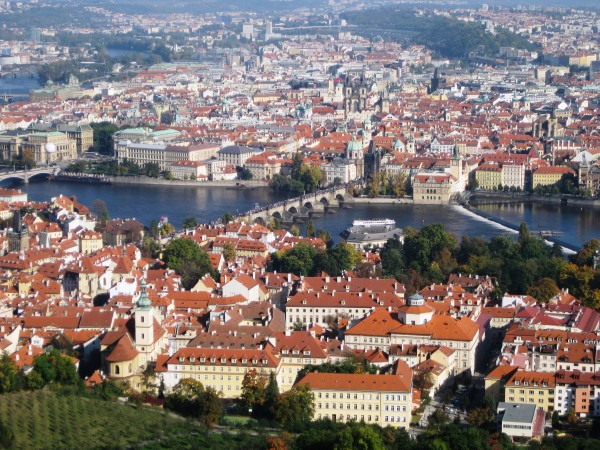 Maria Kuglin – View over Prague from Petrin