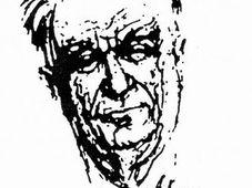 Johannes Urzidil - un dessin de Max Kreibich, 1970