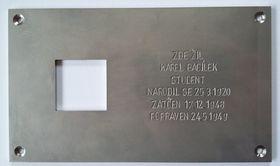 Мемориальная табличка Карелу Бацилеку, Фото: официальный сайт «Последнего адреса»