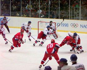 Nagano Olympics in 1998, Czech Republic - Russia, photo: Canadaolympic989, CC BY-SA 3.0