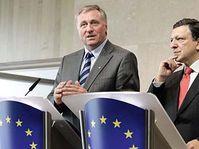 Mirek Topolanek et José Manuel Barroso, photo: CTK