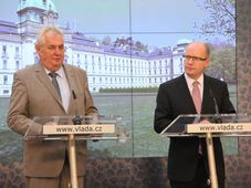 Miloš Zeman, Bohuslav Sobotka, photo: archive of Czech Government