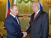 Vladimir Poutine et Vaclav Klaus, photo: CTK