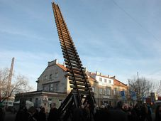 El monumento dedicado a las víctimas del Holocausto en la estación de Praga-Bubny, foto: Jana Šustová, ČRo
