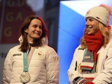 Martina Sáblíková, Ester Ledecká, photo: CTK