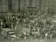 Demonstraciones en Pilsen (1953), fuente: archivo del proyecto Moderní dějiny