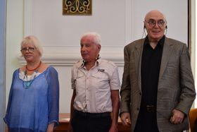 Tatjana Bajewa, Viktor Fainberg und Pawel Litwinow (Foto: Ondřej Tomšů)