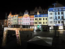 Video mapping test in Plzeň, photo: CTK