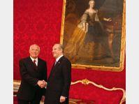 Vaclav Klaus and Thomas Klestil, photo: CTK
