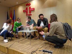 Encuentro con Rodrigo Blanco Calderón en el instituto Cervantes, foto: Ana Briceño