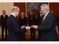 Bohuslav Sobotka et Miloš Zeman, photo: CTK