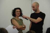 Romista Lukáš Houdek s romskou spisovatelkou Ivetou Kokyovou (Foto: Jana Šustová)