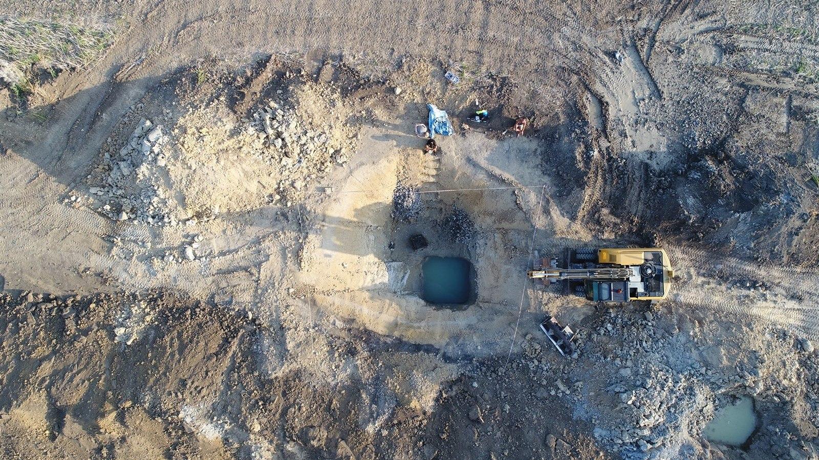 Nejstarší dochovaná studna na českém území, foto: Archeologické centrum Olomouc