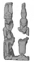 El dios Amón y su esposa Mut (reconstrucción), fuente: Alexander Gatzsche